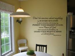 Philippians 4 6 7 Don T Be Anxious About Anything Vinyl Wall Decal Bible Verse Ebay