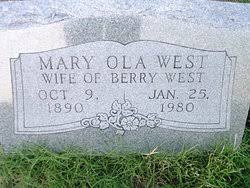 Mary Ola Bichfield West (1890-1980) - Find A Grave Memorial