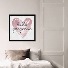 Shop Oliver Gal Gorgeous Salute Rose Typography And Quotes Wall Art Framed Print Beauty Quotes And Sayings White Pink Overstock 32194526