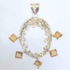 citrine necklace golden yellow gemstone