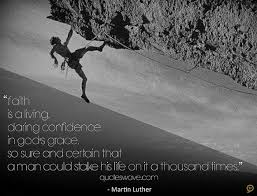 faith is a living daring confidence in god s grace so sure and