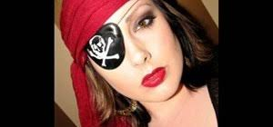 how to apply y pirate makeup for