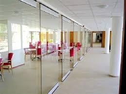 aluminium frame sliding glass partition