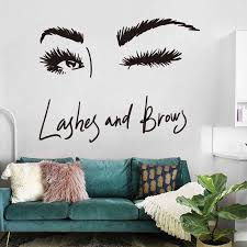 Sexy Long Eyelashes Wall Sticker Art Decals Living Room Sofa Bedroom Wall Background Decorations Stickers Wallpaper Mural Wall Stickers Aliexpress
