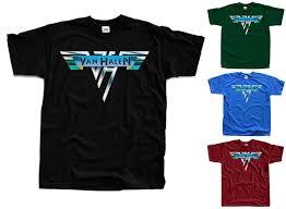 Satın Al VAN HALEN LOGO, Eddie Van Halen Tişört Siyah, Yeşil Şişe, Mavi,  Tuğla S 5XL, TL90.48