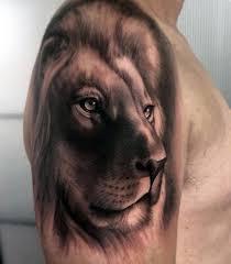✅[100+] 3d Lion Shoulder Tattoo Design ...