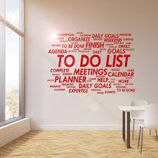 Vinyl Wall Decal To Do List Office Room Space Business Art Idea Sticke Wallstickers4you