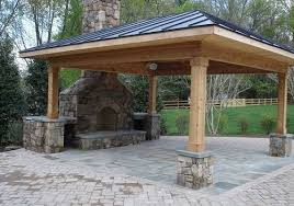 outdoor stone fireplaces for patios