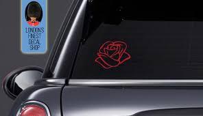 Rose Car Vinyl Decal Etsy