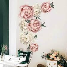 Decal Baby Nursery Kids Wall Stickers Mural Pink Peony Flower Decor Ebay