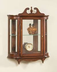 antique curio cabinets with curved