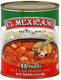 calories in el mexicano menudo beef