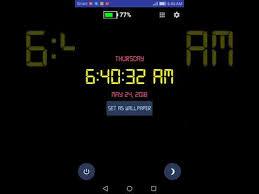 digital clock live wallpaper apps on