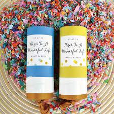 handmade confetti launchers wedding