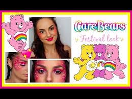 easy festival makeup carebears