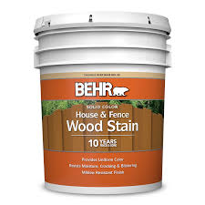 Solid Color House Fence Wood Stain Behr Pro