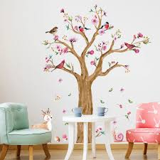 Flower Tree Branches Birds Wall Stickers Vinyl Diy Wall Decals For Living Room Bedroom Kids Room Home Decor Murals Wall Decals Bird Wall Stickerwall Sticker Aliexpress