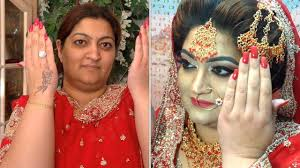 asian wedding day makeover shaheen