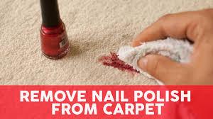 remove nail polish from carpet 3 easy
