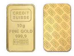 credit suisse 10 gram gold bar