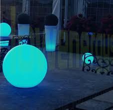 large colour changing solar globe light