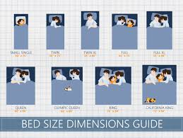 mattress size chart bed dimensions