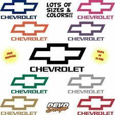 Chevy Solid Bowtie Decal Sticker Car Truck 4pk Free Ship Rims Wheels Black Color Rainbowlands Lk