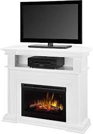 tv stand electric fireplace white