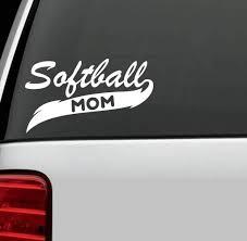 Amazon Com Keen Softball Mom Decal Vinyl Sticker Cars Trucks Walls Laptop White 7 X 5 In Kcd403 Automotive