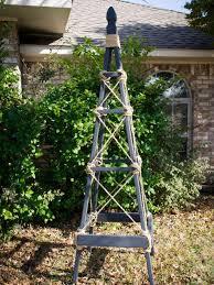 how to make a garden obelisk