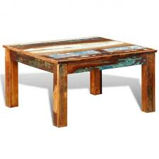 square wooden coffee table antique