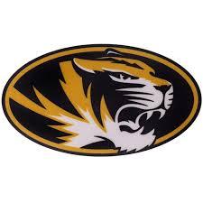 The Mizzou Store Mizzou Oval Tiger Head Sticker