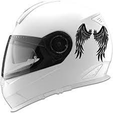 Amazon Com Angel Wings Design Auto Car Racing Motorcycle Helmet Decal 5 Black Automotive