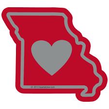 Heart In Missouri Mo Sticker All Weather High Quality Vinyl Sticker Heart Sticker Company