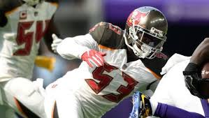 Buccaneers linebacker Adarius Glanton carted off, ruled out with ...