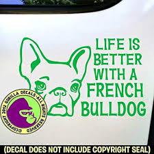 French Bulldog Car Sticker Vinyl Decal Adhesive Wall Window Bumper Laptop Phone
