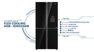 Tủ lạnh AQUA Inverter 4 cửa AQR-IGW525EM – Thiết kế mặt gương lấy ...