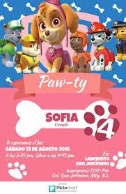 Invitacion Sky Paw Patrol Festivita Ed Eventi Eventi Festivita