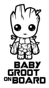 Baby Groot On Board Car Window Bumper Vinyl Decal Sticker Baby Groot Gotg Ebay