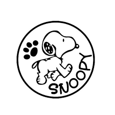 Snoopy Decal Etsy