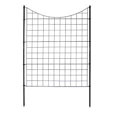 42 5 Pack Zippity Outdoor Products Tall Black Metal Garden Fence Kit Traveldeals Store