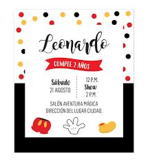 Invitacion Cumpleanos Mickey Confeti Invitaciones De Cumpleanos