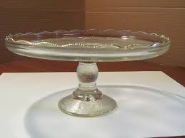 crystal with gold trim 10 cake stand