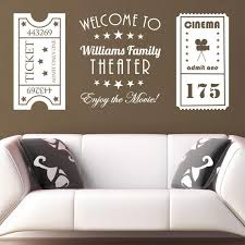 Personalized Wall Vinyl Decal Vintage Movie Theater Tickets Etsy