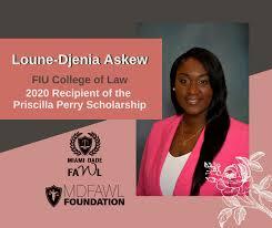 Meet Priscilla Perry Scholarship Recipient, Loune-Djenia Askew