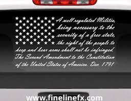 Second Amendment American Flag Vinyl Decal Sticker For Cars Trucks And