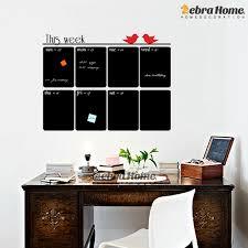 Diy Chalkboard Weekly Planner Vinyl Wall Decal Sticker Calendar Blackboard Murals Wallpaper Office Schoolroom Home Decor 69x76cm Home Decor Wall Decals Stickersvinyl Wall Aliexpress