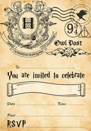 Harry Potter Hogwarts Birthday Party Invitations Instant Download