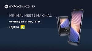 Motorola Razr 5G India Launch Set for October 5, to Be Offered via Flipkart
