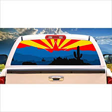Amazon Com Tire Cover Central Arizona Desert Flag Logo Rear Window Mural Decal Or Tint Choose Size Or Send Your Own Measurements Automotive